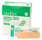 "ELASTIC JUNIOR STRIP BANDAGES, 5/8""X 2-1/4"", 50/BOX"