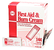 FIRST AID AND BURN CREAM, 144/BOX