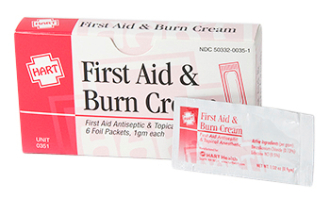 FIRST AID AND BURN CREAM, 6/UNIT