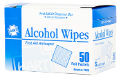 ALCOHOL WIPES, 50 PACK