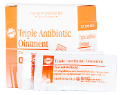 TRIPLE ANTIBIOTIC OINTMENT, 0.5 GM PACKETS, 25/BOX