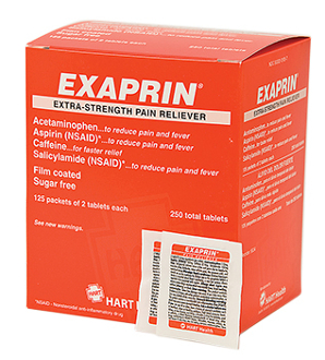 HART EXAPRIN PAIN RELIEVER 125/2's  (250 total Tablets)