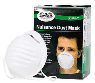 SAS NUISANCE DUST MASK, DISPOSABLE, 50 CT. BOX