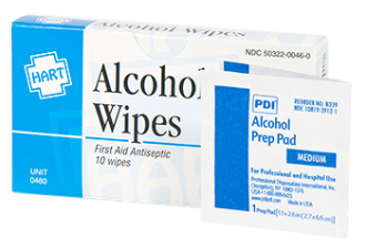 ALCOHOL WIPES, 10 / UNIT