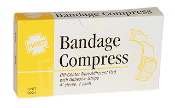 "COMPRESS BANDAGE, 4"", STERILE, 1/UNIT"
