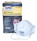 SAS RESPIRATOR, N95 WITH VALVE, 10/BOX