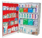 5 SHELF FIRST AID CABINET, FULLY STOCKED SHIPS FOR FREE !