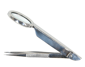 SPLINTER  FORCEPS  WITH MAGNIFIER