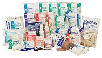4 SHELF FIRST AID CABINET REFILL ONLY , NO MEDS
