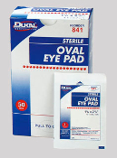 EYE PAD, OVAL  50 PER BOX