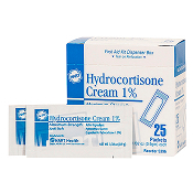 HYDROCORTISONE CREAM 25 CT. BOX