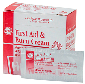 FIRST AID & BURN CREAM  25 CT. BOX