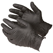 BLACK NITRILE GLOVES BOX OF 100 (50 pair)