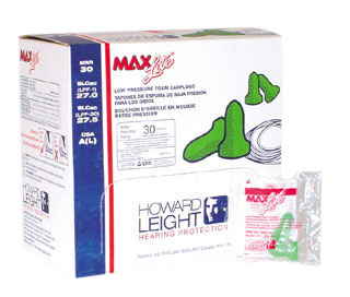 MAX-LITE EAR PLUGS, 200 PAIR/BOX