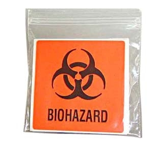"BIOHAZARD LABELS 24 PACK 4""X4"""